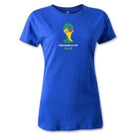 出血!5の付く日クーポン発行中 レディース 2014 ワールドカップブラジル FIFA オフィシャルエンブレム Tシャツ ロイヤルブルー2014 FIFA World Cup Brazil(TM) Emblem Women's T-Shirt (Royal)