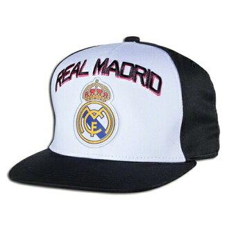 真正的马德里 FC 官方授权帽子帽子俱乐部业绩回升可调帽帽-白色黑色新赛季