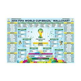 【5%オフクーポン発行中】全記録完全版 2014 FIFA ワールドカップ ブラジル ドイツが優勝!! ポスター 対戦国 ウオールチャート表 2014 FIFA World Cup Brazil(TM) Completed Wallchart Poster