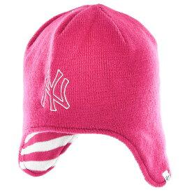 【出血!20%オフクーポン配布中】ニューヨークヤンキース New York Yankees '47 フォーティーセブン ガールズ 子供用 ニット ビーニー 帽子 Girls Toddler Isabella Knit Beanie - Pink