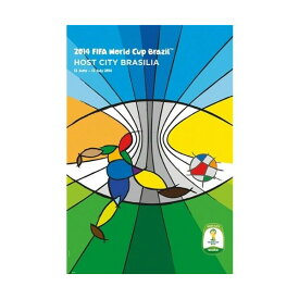 2014 FIFA ワールドカップ ブラジル オフィシャルライセンス ポスター ホストシティ 開催都市ポスター ブラジリア Brasilia 【正規オフィシャルグッズ】