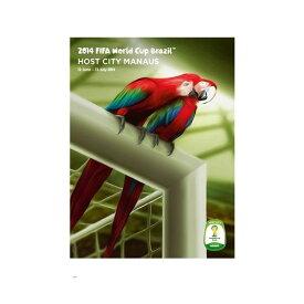 【5%オフクーポン発行中】2014 FIFA ワールドカップ ブラジル オフィシャルライセンス ポスター ホストシティ 開催都市ポスター マナウス Manaus 【正規オフィシャルグッズ】