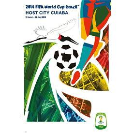 【5%オフクーポン発行中】2014 FIFA ワールドカップ ブラジル オフィシャルライセンス ポスター ホストシティ 開催都市ポスター クイアバ Manaus 【正規オフィシャルグッズ】