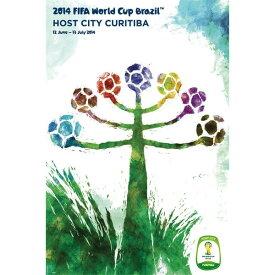 2014 FIFA ワールドカップ ブラジル オフィシャルライセンス ポスター ホストシティ 開催都市ポスター クリチバ Curitiba 【正規オフィシャルグッズ】