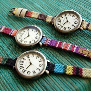 送料無料トーキョーベイTOKYObayレディース腕時計アナログウォッチセドナT016-BRブラウンSedona[多色織物と本革の本格的なバンドが特徴]
