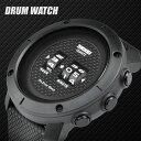 腕時計 メンズ ドラム ローラー ウォッチ メンズ腕時計 iDEALTIME 5気圧 防水 おしゃれ デザイン ウォッチ おしゃれ かっこいい かわいい 文字 大きい ブラック ホワイト アラーム プレゼント ギフト ブランド