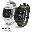メンズ デジタル 腕時計 バウンサー BOUNCER カモフラージュ T6353G ナイロンベルト NATOタイプ ミリタリーウォッチ …