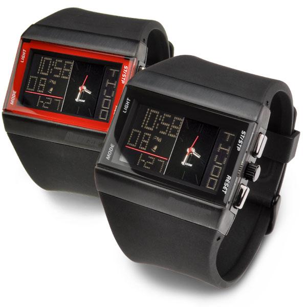 メンズ デジタル アナログ 腕時計 バウンサー BOUNCER NEXT ワイドストリーム 雑誌掲載多数 ダブルフェイス ファッションウォッチ デザインウォッチ 正規品 あす楽