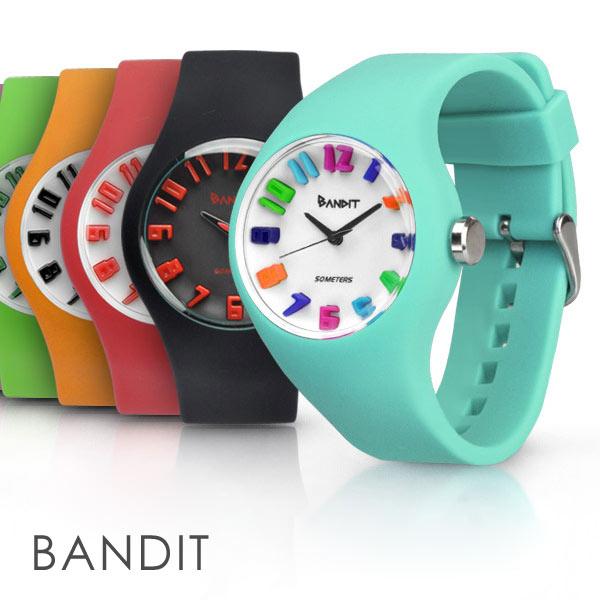 【送料無料】バンディット 3Dインデックス メンズ レディース 腕時計 アナログ スポーツウォッチ シリコンウォッチ 防水 キッズ