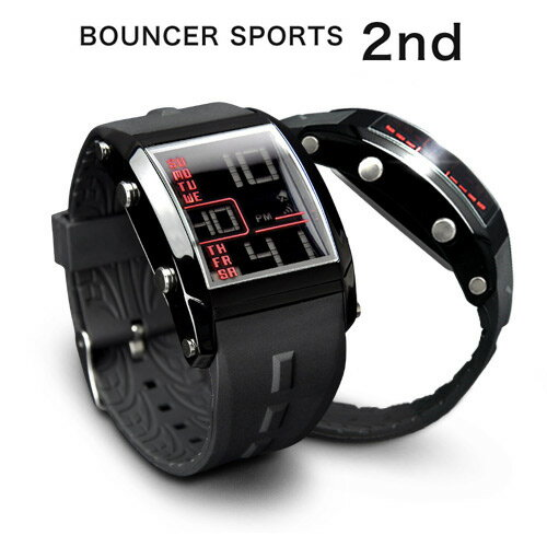 【メール便送料無料】バウンサー スポーツウォッチ 腕時計 メンズ デジタル 防水 ストップウォッチ機能