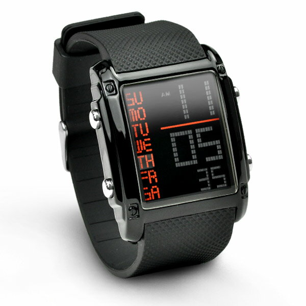 バウンサー スポーツ 腕時計 メンズ デジタル 防水 ストップウォッチ機能【メール便送料無料】