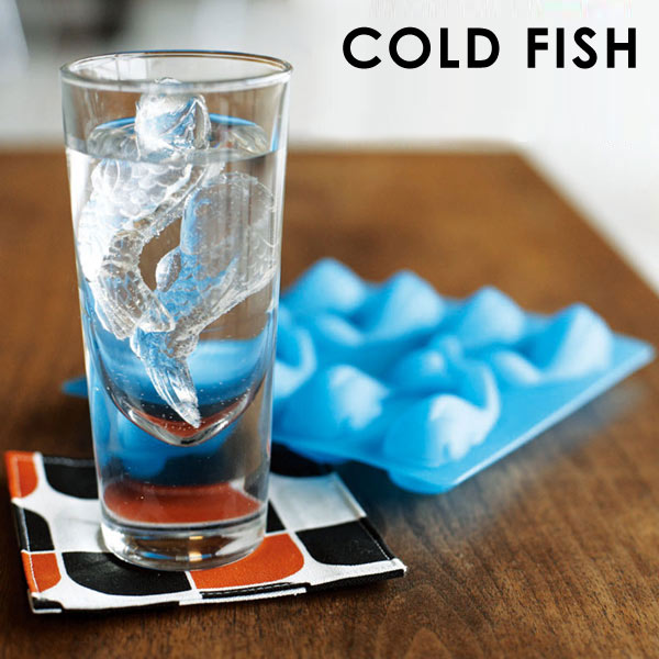 メール便可 アイストレイ coldfish製氷器 コールドフィッシュ 製氷皿 金魚 アイストレー 製氷 トレイ あす楽