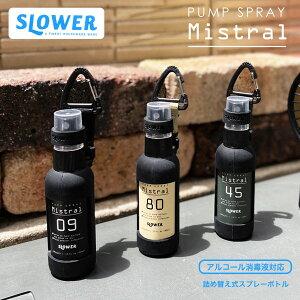 Mistral ミストラル スプレーボトル アルコール対応 スプレー容器 50ml 小分け 持ち運び 携帯 容器 ブランド SLOWER おしゃれ アウトドア カラビナ付き