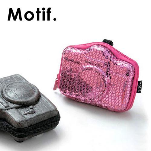 デジカメケース HARD ハード 一眼レフ型 ブランド Motif かわいい カメラ型 デジタルカメラ ケース スパンコール /あす楽