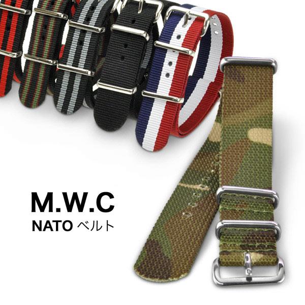【メール便送料無料】NATOベルト ナイロンベルト ミリタリーベルト 18mm 20mm 腕時計 取替ベルト