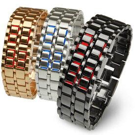 【送料無料】腕時計 メンズ デジタル LEDブレスレット