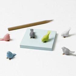 ミニスパローマグネットカラフルな小鳥(スズメ)のマグネット(6個セット)ブランドQualyクオリーおもしろ雑貨