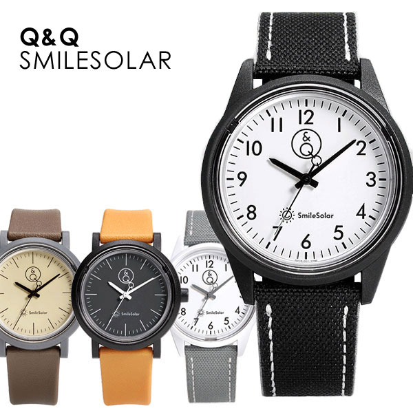 メンズ 腕時計 スマイルソーラーウォッチ Q&Q SmileSolar 100M 防水 うでどけいメンズ ソーラー腕時計 メンテナンス不要 10気圧防水 プレゼント あす楽