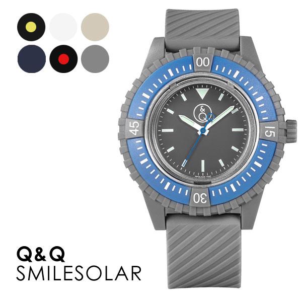 メンズ 腕時計 スマイルソーラーウォッチ Q&Q 20BAR 20気圧防水 送料無料 あす楽