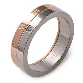 【メール便送料無料】ステンレス ペアリング ピンクゴールドコーティング 指輪 Mens メンズ Ladies レディース/あす楽