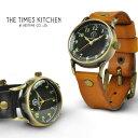 TIMES KITCHEN タイムズキッチン グリーンティー レディース メンズ 腕時計 レザーブレス 日本製ムーブメント ハンド…