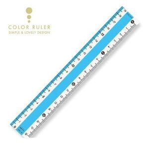 共栄プラスチック CPK-18-B カラー直線定規 18cm ブルー CPK18B