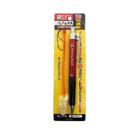 4960587078099 たくみ ノック式鉛筆 5連発 赤 NO.7809 2MMシン