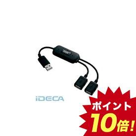 EW04599 USB2.0ハブ 2ポート・ブラック 【ポイント10倍】