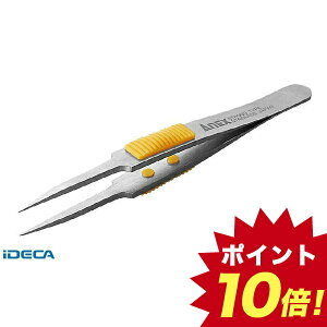 GN04547 ラバーグリップ付ステンレスピンセット 極細鋭型115mm 【ポイント10倍】