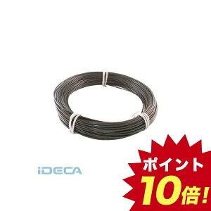 【あす楽対応】「直送」JM95924 カラー針金 ビニール被覆タイプ 2.0mmX25m 黒 【ポイント10倍】