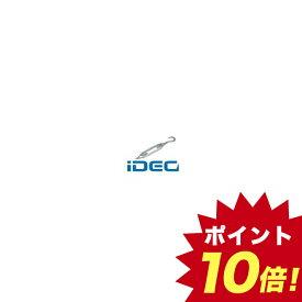 JW20907 【20個入】 枠式ターンバックル両フック 白 電気メッキ バラ 【ポイント10倍】