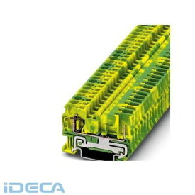 JU22742 スプリング式アース端子台 - ST 4/ 1P-PE - 3042722 【50入】 【50個入】 【ポイント10倍】