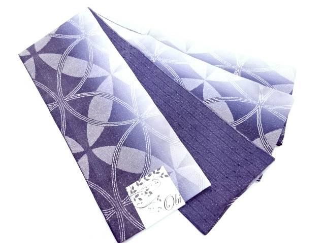 【IDN】 七宝模様織出し暈し浴衣小袋帯(ラメ入り)(日本製)【新品】【着】