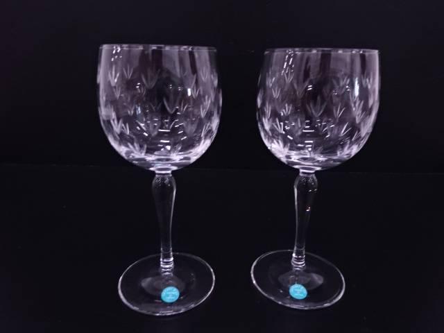 【IDN】 Tiffany & Co. フローレット ワイングラスペア【中古】【道】