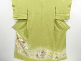 【IDN】 寿光織祇園祭模様織り出し五つ紋色留袖(比翼付き)【リサイクル】【中古】【着】
