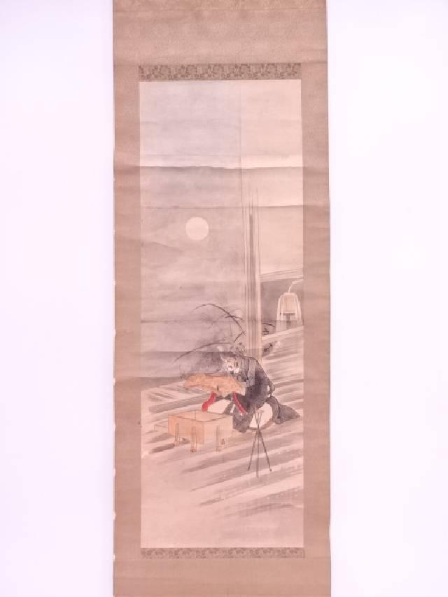 【IDN】 日本画 菅原道真 肉筆紙本掛軸【中古】【道】