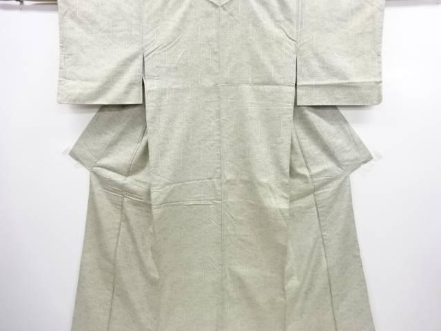 【IDN】 亀甲に菊模様織り出し手織り紬着物【アンティーク】【中古】【着】