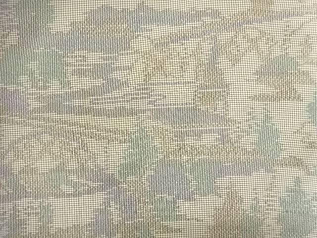 【IDN】 家屋に樹木模様織出本場大島紬着物【アンティーク】【中古】【着】