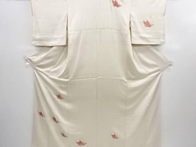 【IDN】 蝶模様刺繍着物【アンティーク】【中古】【着】