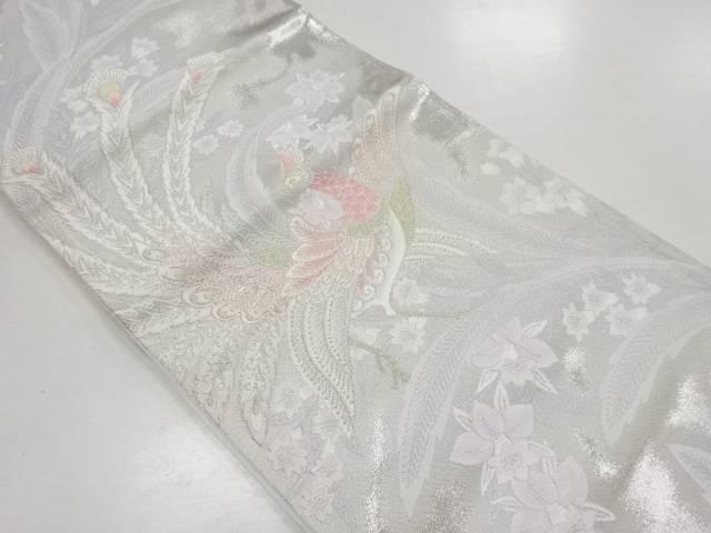 【IDN】 孔雀模様織出袋帯【リサイクル】【中古】【着】