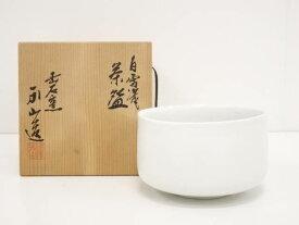 【IDnet】 出石焼 永山造 白雪磁茶碗【中古】【道】