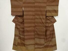 【IDnet】 上島洋山作 能州紬横段模様織り出し訪問着【リサイクル】【中古】【着】