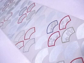 【IDnet】 袋帯 西陣織 地紙に古典草花文【リサイクル】【中古】【着】