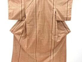【IDnet】 上島洋山作 能州紬縞織り出し着物【リサイクル】【中古】【着】