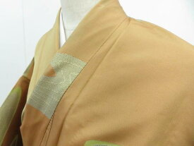 【IDnet】 紬 巧趣織 流水文 着物 リメイク 材料【リサイクル】【中古】【着】