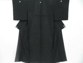 【IDnet】 夏物色無地 喪服用 絽 五つ紋入り 着物【リサイクル】【中古】【着】