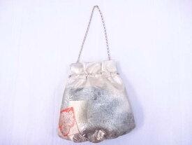 【IDnet】 和装小物 和装バッグ 流水に重ね色紙に菊文【リサイクル】【中古】【着】