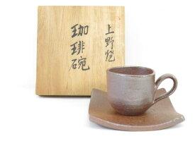 【IDnet】 【陶芸・陶器】 上野焼 高鶴華山造 珈琲碗(共箱付)【中古】【道】