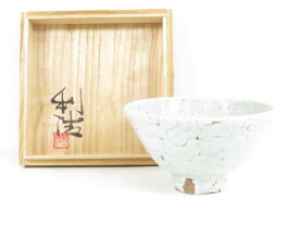 【IDnet】 【茶道具】 会津本郷焼 宗像窯 宗像利活造 茶碗(共箱付)【中古】【道】