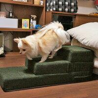 【犬】【階段】チワワ4.2kgのコマメはフォレストグリーンを使用